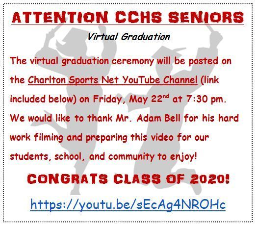 Virtual Graduation - Friday, May 22, 2020 at 7:30 p.m.
