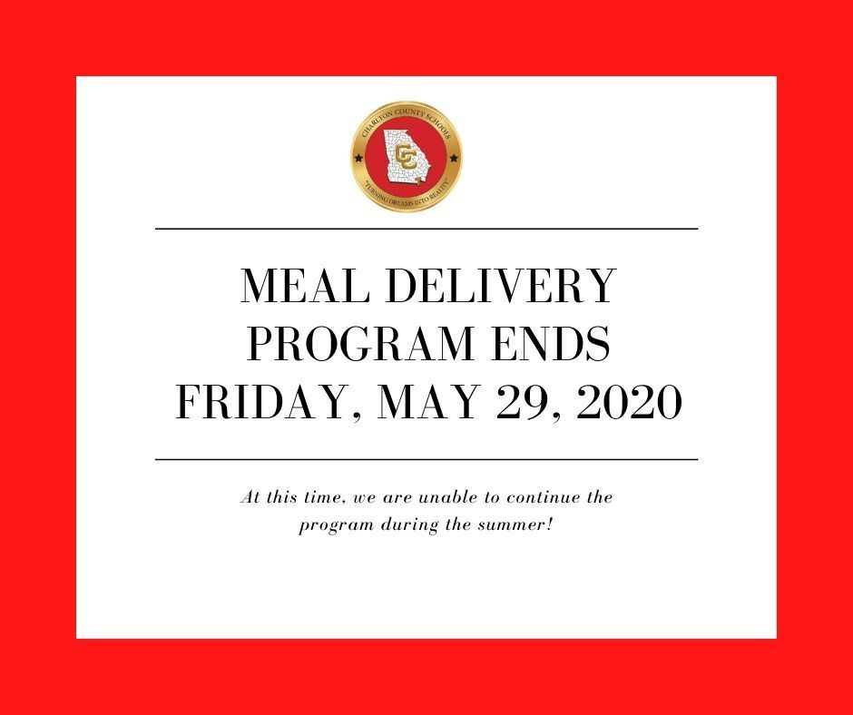 Meal Delivery Program Ends Friday