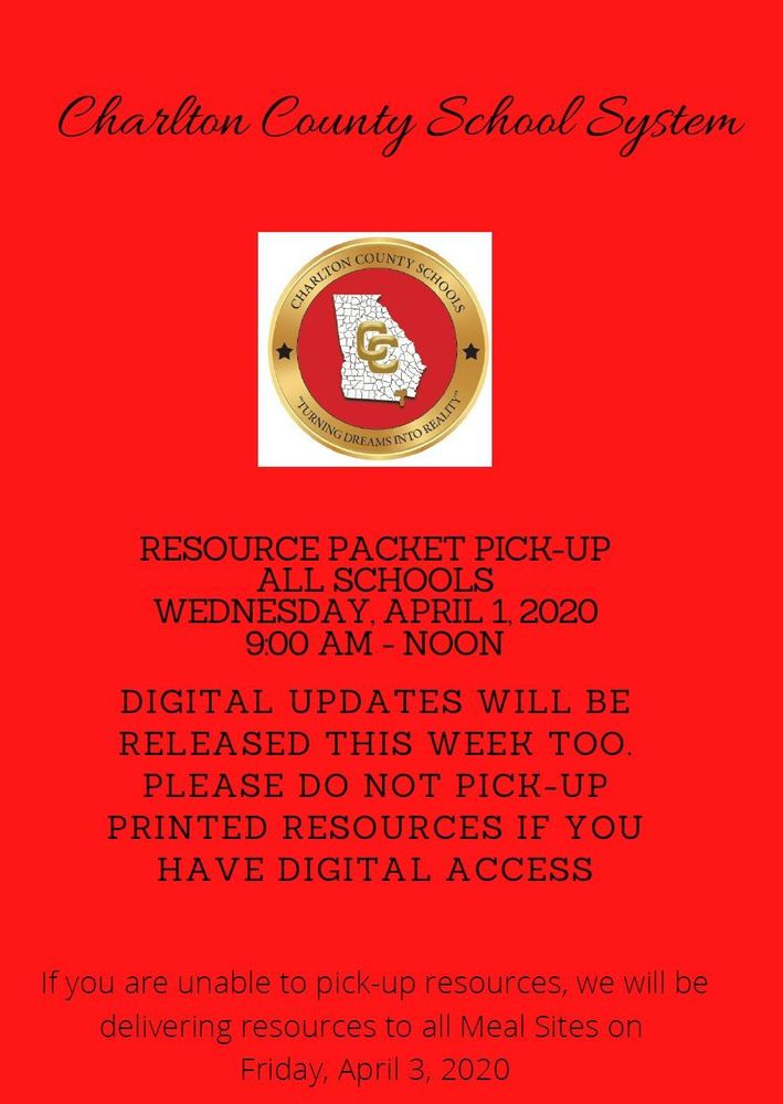 Printed Resource Packets Will Be Available
