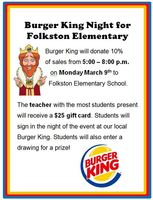 FES to receive 10% of sales on Monday, March 9th, from 5:00 - 8:00 p.m.