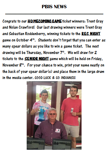 hoco ticket winners