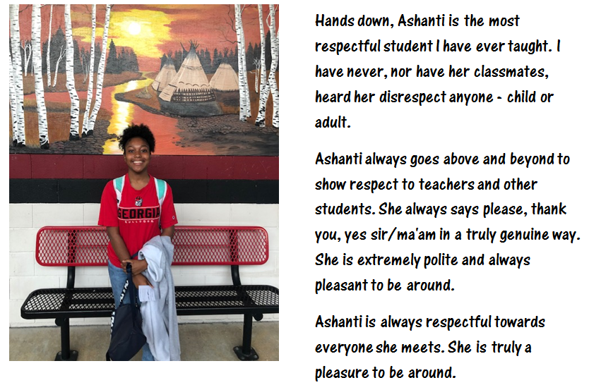 Ashanti Alderman - 10th Grade