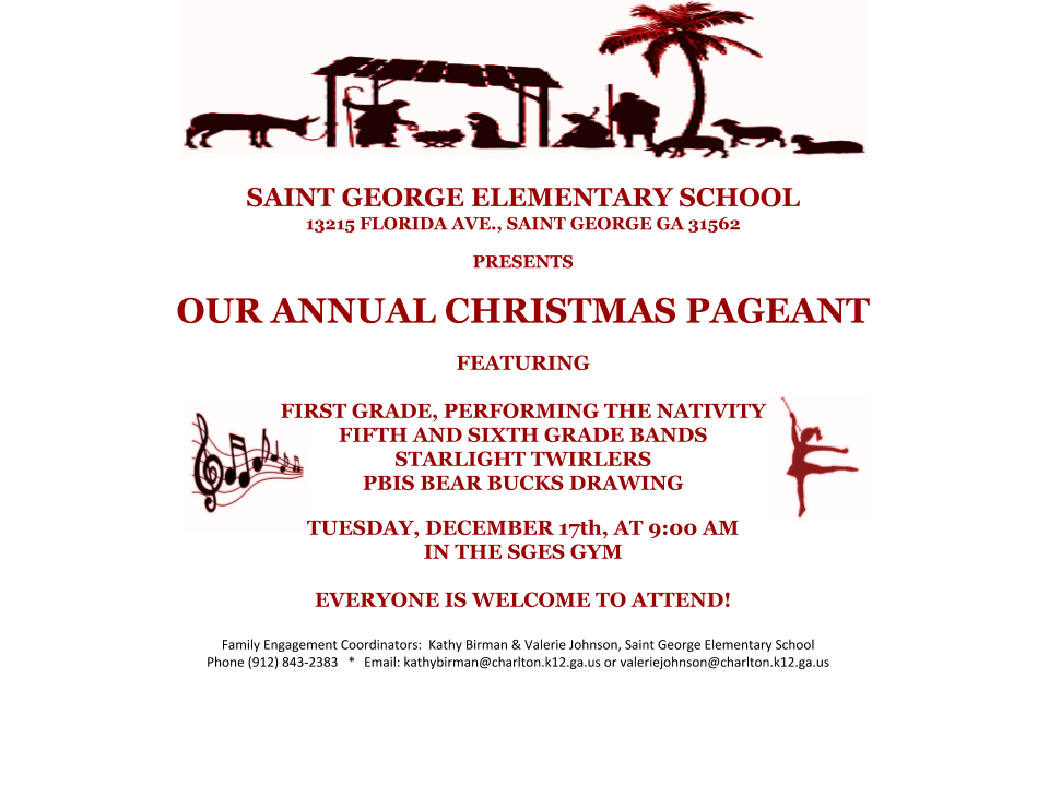 SGES Annual Christmas Pageant