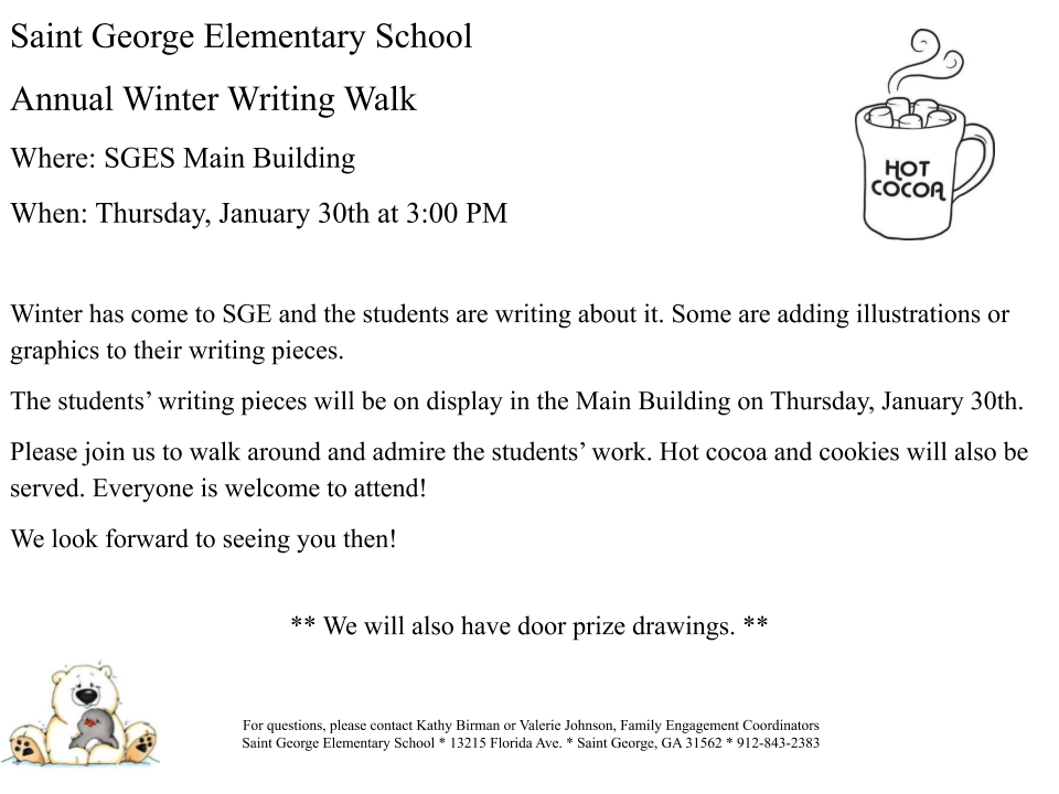 SGES 2020 WInter Writing Walk