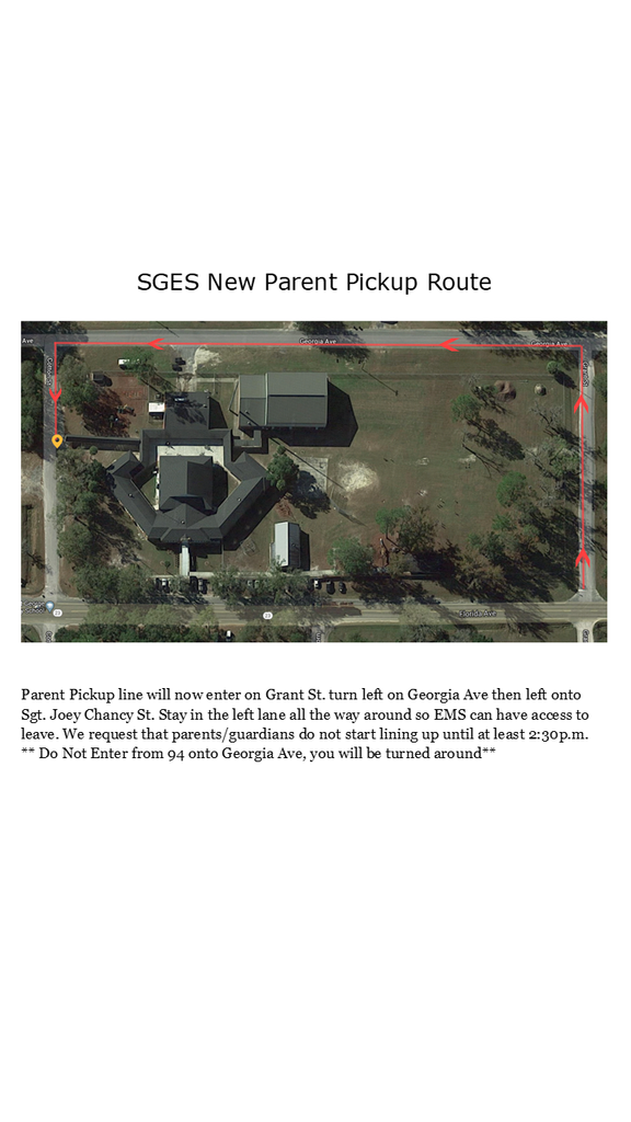 Parent Pickup New Route
